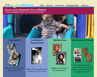 Digital Revival new website created by Infinistorm LLC